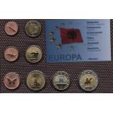 Набор пробных евро  Албании 2008 года в блистере