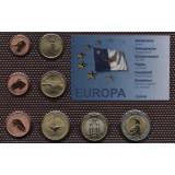 Набор пробных евро  Азорских островов 2009 года в блистере