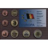 Набор пробных евро  Бельгии 2001 года в блистере