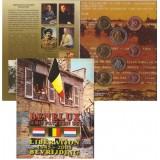 Набор пробных евро  стран Бенилюкс 2005 года в буклете