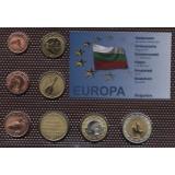 Набор пробных евро  Болгарии 2011 года в блистере