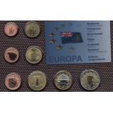 Набор пробных евро Британских Виргинских островов 2009 года в блистере