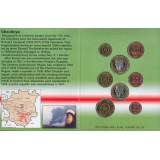 Набор пробных евро  Чечни  (республика Ичкерия) 2005 года в буклете