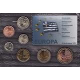 Набор пробных евро Греции 2012 года в блистере