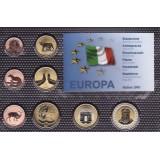 Набор пробных евро Италии 2001 года в блистере