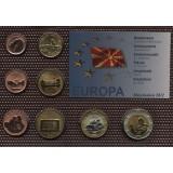 Набор пробных евро  Македонии 2012 года в блистере