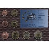 Набор пробных евро  Мартиники 2007 года в блистере