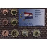 Набор пробных евро  Нидерлады 2001 года в блистере