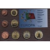Набор пробных евро  Португалии 2001 года в блистере