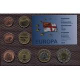 Набор пробных евро  острова Сарк 2012 года в блистере