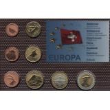 Набор пробных евро  Швейцарии 2009 года в блистере