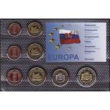 Набор пробных евро  Словакии 2004 года в блистере