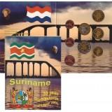 Набор пробных евро  Суринам 2005 года в буклете