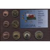 Набор пробных евро  Уэльса 2006 года в блистере