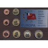 Набор пробных евро  Уоллис и Футуна 2009 года в блистере