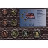 Набор пробных евро Великобритании 2003 года в блистере