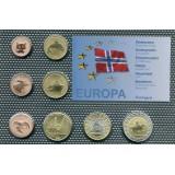 Набор пробных евро  Норвегии 2004 года в блистере