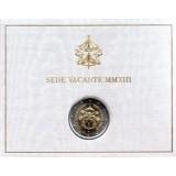Вакантный престол. Памятная монета 2 евро. 2013 год, Ватикан. (в буклете!)