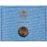 VII Всемирная встреча семей. Монета 2 евро в буклете. 2012 год, Ватикан.