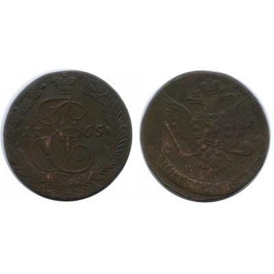 5 копеек 1765 года ЕМ Российская Империя