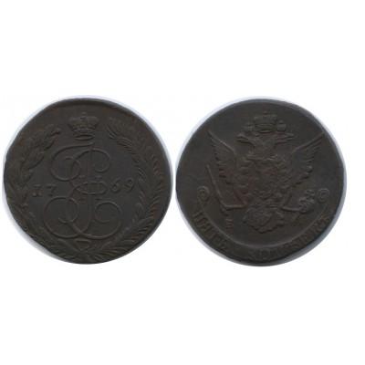 5 копеек 1769 года ЕМ Российская Империя