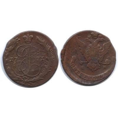 5 копеек 1771 года ЕМ Российская Империя