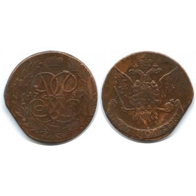 5 копеек 1758 года  Российская Империя