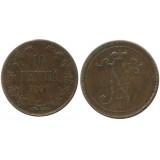 Монета 10 пенни 1899 года  Финляндия в составе Российской Империи