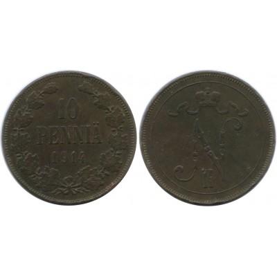 Монета 10 пенни 1914 года  Финляндия в составе Российской Империи
