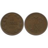 Монета 10 пенни 1915 года  Финляндия в составе Российской Империи