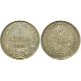 Монета 1 марка 1890 года (L),  Финляндия в составе Российской Империи (арт н-43363)