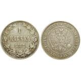 Монета 1 марка 1893 года (L),  Финляндия в составе Российской Империи (арт н-32060)