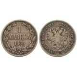Монета 1 марка 1865 года (S),  Финляндия в составе Российской Империи