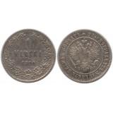 Монета 1 марка 1890 года (L),  Финляндия в составе Российской Империи