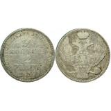 Монета 30 копеек 2 злотых 1839 года (MW) Польша в составе Российской Империи,  (арт н-47366)