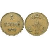 Монета 5 пенни 1873 года  Финляндия в составе Российской Империи (арт н-43386)