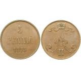 Монета 5 пенни 1875 года  Финляндия в составе Российской Империи (арт н-47422)