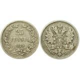 Монета 25 пенни 1875 года (S),  Финляндия в составе Российской Империи (арт н-43369)