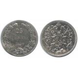 Монета 25 пенни 1890 года (L),  Финляндия в составе Российской Империи
