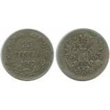 Монета 25 пенни 1907 года (L),  Финляндия в составе Российской Империи