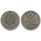 Монета 50 пенни 1911 года (L),  Финляндия в составе Российской Империи