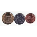 Набор монет Афганистана (3 шт.). 1-5 афгани, 2004 год, Афганистан.