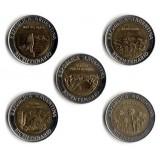 200-летие революции, набор из 5 монет. 1 песо, 2010 год, Аргентина.
