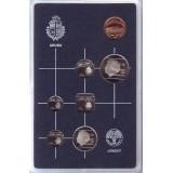 Набор монет Арубы в пластике. (6 шт., с жетоном), 1986 год, Аруба.
