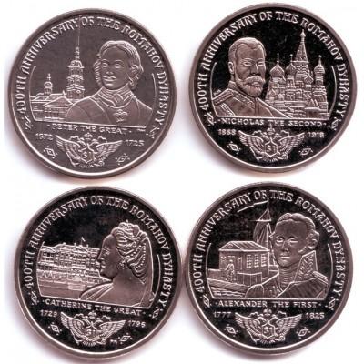 400-летие дома Романовых. Набор монет (4 шт.), 2013 год, Британские Виргинские острова