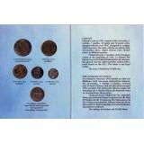 Набор монет Финляндии в буклете (5 шт., с жетоном), 1995 год, Финляндия. (Вар. I)