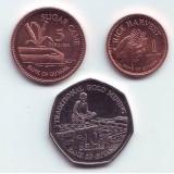 Набор монет Гайаны (3 шт.). 2007-2012 гг., Гайана.