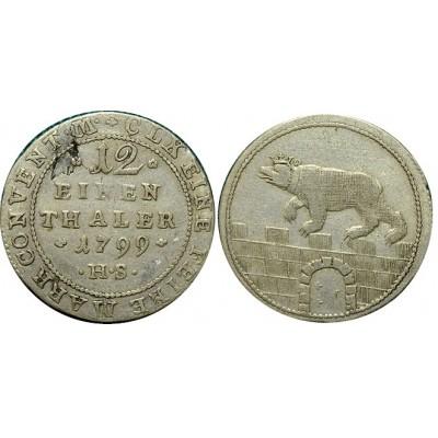 Монета  1/12 талера 1799 HS Ангальт, Германия (арт н-60987)