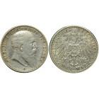 Монета  2 марки 1903 Баден, Германия (арт н-38762)