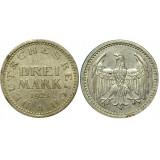 Монета 3 марки 1924 А, Германия (арт н-60315)